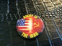 VINTAGE PROMO PINBACK BUTTON #130-017 movie ROCKY IV - THE WAR