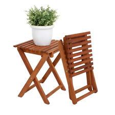 2x Hocker Eukalyptus Klapphocker FSC Holz Gartenhocker Garten Beistelltisch Holz