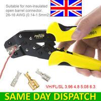 UK Crimper Clamp Tool 0.14-1.5mm² Wire Ratchet Crimp Pliers Terminal JX-1601-08