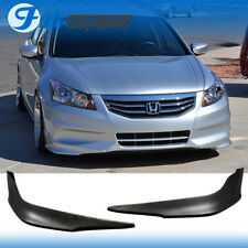 Fit 11-12 Honda Accord 4DR Sedan PU Front Bumper Lip OE Style 2PCS