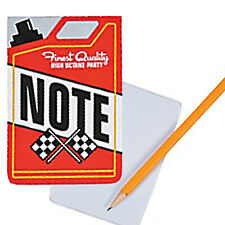 RACING PARTY Fuel Can Notepads Race Car Notepad Favours Pack of 6 Free Postage