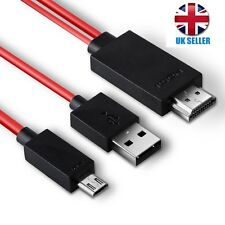 2M MHL USB to HDMI HD TV Adapter Cable for Samsung Galaxy Tab 3 10.1 8.0 Tablet