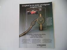 advertising Pubblicità 1985 LONGINES CONQUEST VHP e FERRARI
