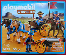 PLAYMOBIL # 5249 CALVARY LITTLE PEOPLE 55 PIECES WESTERN SOLDIERS PLAY SET  MIB