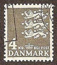 Denmark Scott# 444C, Small State Seal, 4k, Unused CTO, FG, NH, 1969