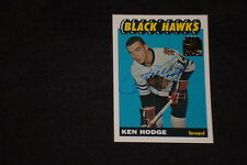KEN HODGE 2002 TOPPS ARCHIVES SIGNED AUTOGRAPHED CARD #55 BLACK HAWKS