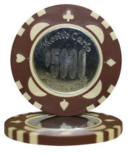 100pcs Monte Carlo Coin Inlay Poker Chips $5000