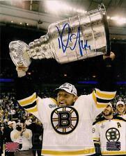 Dennis Seidenberg Boston Bruins Signed 2011 Raising The Stanley Cup 8x10 B