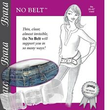 "Braza No Belt Invisible, Adjustable, Clear Fits 20""-36"" Waist Plastic Belt Strap"