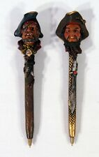 Hand Painted One-eyed Pirate Poly Resin Pen 232P-3 (set of 2)