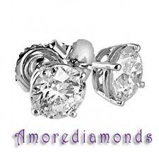 3 ct EGL US J SI 100% genuine natural round diamond stud earrings 18k white gold