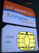 Used cingular Sim Card Gsm cell phone SmartChip