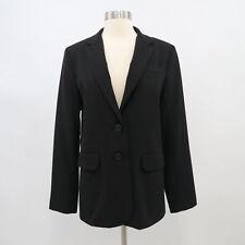 Norma Kamali Boyfriend Blazer Jacket Womens 10 Black Oversized Stretch Career
