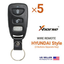 5× Xhorse Universal Wire Remote Hyundai Style 3 Separate Buttons Xkhy00En