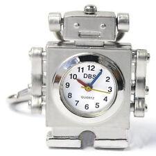 DBS Silver Robot Pendant Quartz Pocket Necklace Watch Montres pendentif