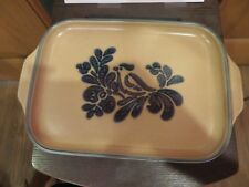 Pfaltgraff Folk Art Serving Tray 6.5 x 10 inch Snack Vegetable Cheese Bread