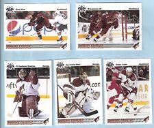 2009-10 Russian Bear Retro Phoenix Coyotes Team Set (5)