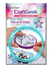 Aqua Wire Wind It Craft Geek Purple Cows New Pattern Embellishment Kit