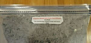 Wood Ash, Organic, From Hard Wood, Un-sifted For Gardening / Pottery / Soap 15oz