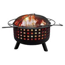 LANDMANN 26314 City Lights Memphis Wood Fireplace LTS Mmphs Fire Pit G Clay