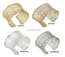 NEW Authentic KENDRA SCOTT Candice Filigree Logo Gold Silver Open Cuff Bracelet