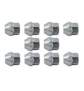 10x Wheel Nuts, Fits Ford, Honda & Vauxhall, Escort MK II, M12x1.5mm Zinc - SN42