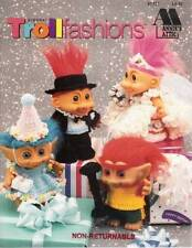 Annies Attics Crochet Doll Clothes Pattern Book Troll Fashions Leaflet 87T721