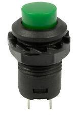 Verde Off (en) momentáneo interruptor de botón Bocina De Timbre coche DASH 12v
