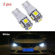 2pc Xenon White T10 921 158 168 Interior/License Plate SMD Light Bulbs 5-LED