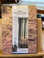 Fabric Shower Curtain Fall/Winter Scene