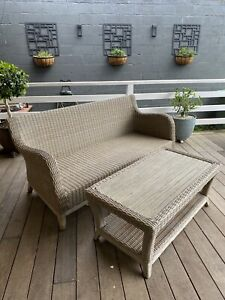 Outdoor Lounge & Table Wicker