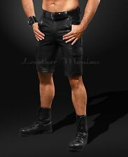 Leather Cargo Bermuda Shorts