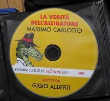 Audiolibro audiobook cd MP3 LA VERITà DELL'ALLIGATORE  MASSIMO CARLOTTO  usato