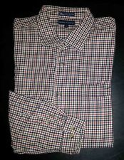 Grant Thomas Shirt Button-Front XL Red White Blue Check L/S c1572