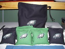 Philadelphia Eagles Embroidered Cornhole Corn Hole Set of 8 Bags and Storage Bag