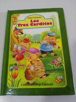 LOS TRES CERDITOS CUENTOS INFANTILES DESPLEGABLE POP-CARTONE LIBRO TAPA DURA