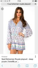 Spell Designs Bohemian Royale Playsuit Size L NWT