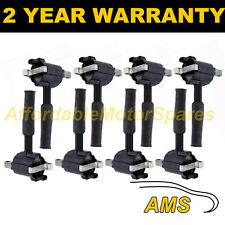 8X FOR JAGUAR DAIMLER XJ 4.0 1997-00 2 PIN TYPE PENCIL IGNITION COIL PACK SET