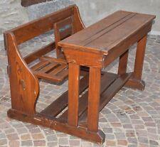 ANTICO BANCO SCUOLA BAMBINO EPOCA 900 scrivania BANCHETTO LEGNO old school desk