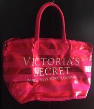 New Victoria's Secret Pink Sequin Stripe Tote Duffle Gym Bag
