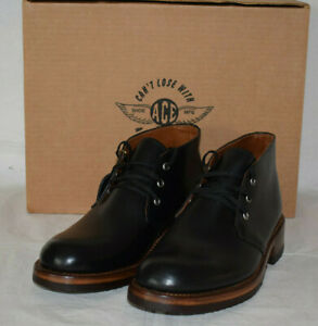 Ace Boot Norton Chukka Black Leather Shoes UK7.5 US8E Cats Paw Sole Made in USA
