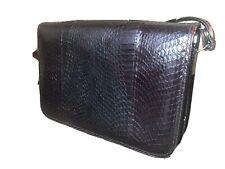 Vintage Retro Real Snake Skin Boxy Shoulder Bag 1970s Clutch