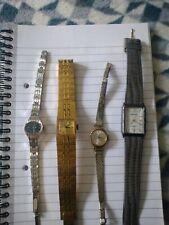 Job Lot Of Ladies Watches (4) Rotary, Timex, Sekonda, Giralux