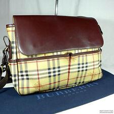 Rare Unisex Burberry Haymarket Large Crossbody Shoulder Messenger Bag Ex Con