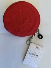 Kipling Women's's Red Marguerite Zip Pouch Coin Purse New With Tags