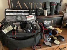 Vintage Pentax Camera With Many Extras Including Flashgun, Sigma Lenses Etc