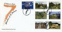 St Helena Landscapes Stamps 2020 FDC 7 Wonders Napoleon Sharks Turtles 7v Set