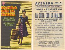 Programa de CINE. Título película: LA CHICA CON LA MALETA.