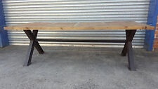 NEW FRENCH INDUSTRIAL RECYCLED VINTAGE RUSTIC TIMBER DINING TABLE - 300 x 100CM