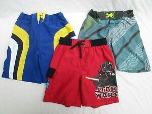 ❤ Boys Swim Shorts LOT Star wars NO BOUNDARIES 4 5 6 trunk bathing suit FREESHIP